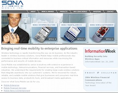 Sona Mobile Web site